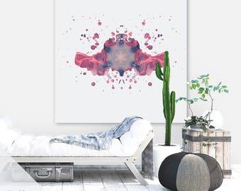 Rorschach Art Print | Ink Blot Art | Psychology Art | Extra Large Wall Art | Holistic Gift | Instant Download | Printable Art | Mandala Art