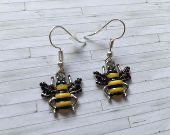 Bee Earrings, Bee Jewellery, Bee Gifts, Nature Jewellery, Nature Gifts, Birthday Gifts, Gift for Her, Gift for Him, Bee Keeper
