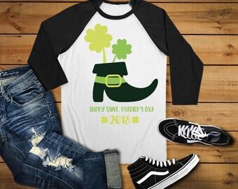 Youth St. Patrick's Day Shirt - 2018 St. Patrick's Day Shirt - Boy Raglan Holiday - Boys Irish Shirt
