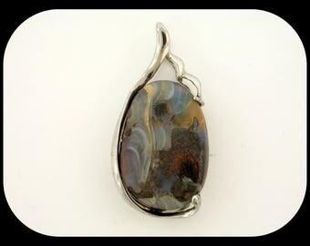 New Designer 925 Sterling Silver 50.26CT Australian Koroit Boulder Opal PENDANT
