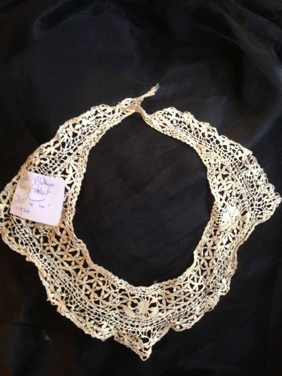 Silk maltese lace collar. 1920's. 30inchesx4