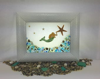 Mermaid Beach Glass, Sea Glass Decor
