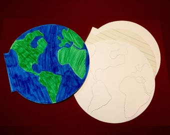 12 Earth Coloring and Writing Books. Quick crafts for kids. Earth day project. Solar system writing paper.