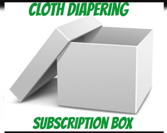 Cloth Diapering Subscription Box, cloth diapers, cloth wipes, bibs, burpcloths, diaper free time mat, cloth diaper baby gift, eco friendly