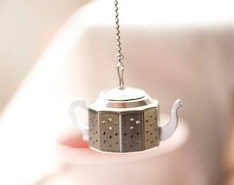 Tea Infuser Mini Tea Pot Favor Set | Tea Party Tea Favor | Stainless Steel Tea Strainer | Gift for Her