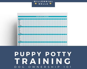 Printable Puppy Potty Training Record Instant Download
