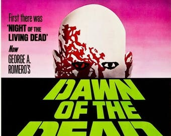 Back to School Sale: Dawn of the Dead Movie Poster Horror Zombies George Romero