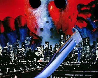 ON SALE NOW: Friday The 13Th Part Viii 8 Jason Takes Manhattan Movie Poster Horror