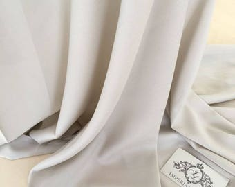 Light grey  Crepe Fabric with elastan By the Yard, Silk Crepe powder color Fabric, Premium crepe fabric Z00063