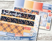 September Monthly View Kit for CLASSIC HAPPY PLANNER