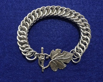 Leaf Toggle Chainmaille Bracelet