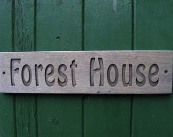 Eco Friendly Long Life Maintenance Free Oak House Name Sign  Outdoor Address Farms Campsites Wooden Plaque