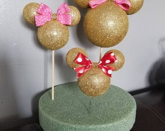 Minnie mouse topper, centerpiece toppers, minnie heads, mickey heads, foam