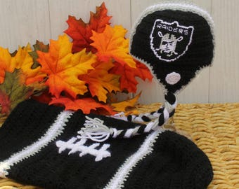Baby FOOTBALL Cocoon, Newborn Football swaddle, Oakland RAIDERS Inspired (Handmade by me and not affiliated with the NFL)