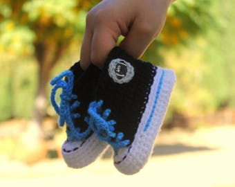 Baby Football shoes, Carolina PANTHERS inspired converse shoes (Handmade by me and not affiliated with the NFL)