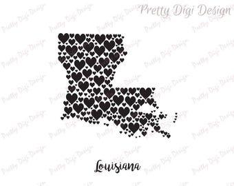 Louisiana stencil | Etsy