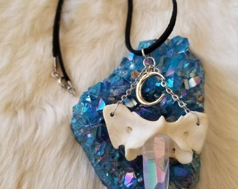 Fox Atlas Bone Angel Aura Quartz Choker