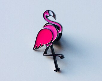 Flamingo | Bird | NSO | Tropical | Pin | Badge | Retro | Hipster | Upcycle | Accesory | Modify