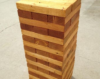 Giant Tower Large-Stained & Sanded, (toppling tower, wedding game, wedding guest book)