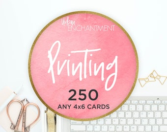 PRINTING -- 250 -- 4x6 Cards -- Perfect for Tips & Application Cards