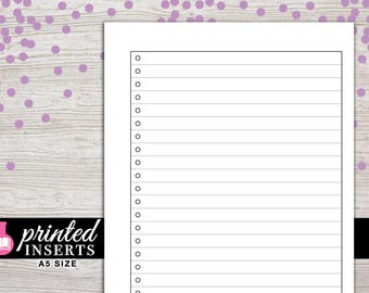 A5 Printed Planner Inserts - Lists - Filofax A5 - Kikki K Large - LV GM - Design: Wanderlust
