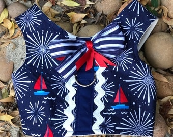 Sailor Navy Blue Dog Harness in Size Small with Free Shipping