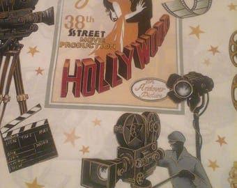 Andover Fabrics Hollywood Lights Camera Action 1 yard Cotton