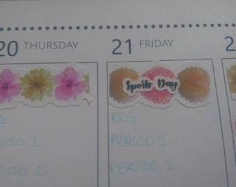 UK School Date Planner Stickers