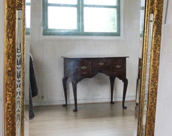 Large Antique Pier Glass Mirror - Gilded Gesso Frame in  the Rococo style