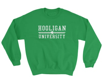 Funny St. Patricks Day Irish Shamrock Shenanigan University Ireland Green Beer Sweatshirt
