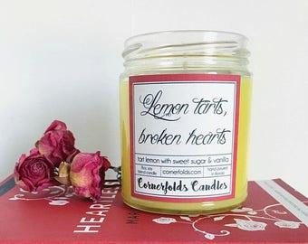 ON SALE Lemon tarts, broken hearts | Heartless Inspired 8oz. Scented Candle