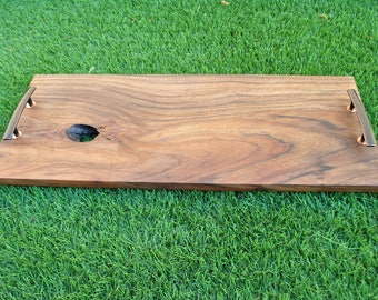 Live Edge Acacia Serving Tray with Handles