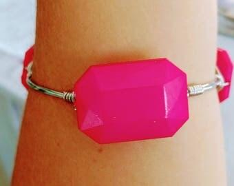 Hot pink bangle