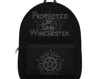 Supernatural Protected by Sam Winchester Backpack