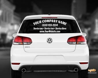 Rear Window Decal Etsy - Car window decals custom made