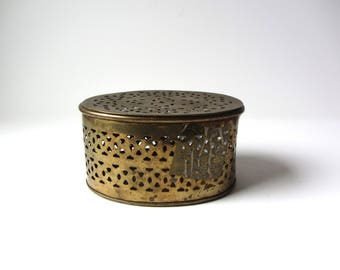 Vintage Perforated Brass Box
