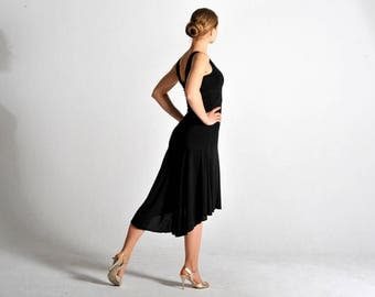 preorder now* CARLA black Tango flow dress with V back - sizes XS/S/M