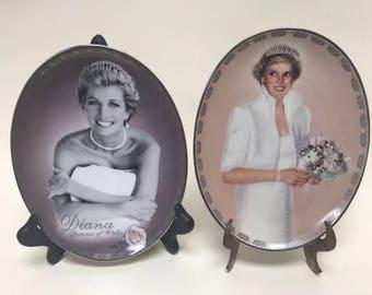 Princess Diana Bradford Exchange plates Always Diana Our Royal Princess collectible