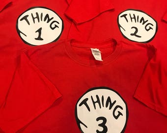 Dr. Suess' Cat in the Hat Thing 1 Thing 2 Shirts