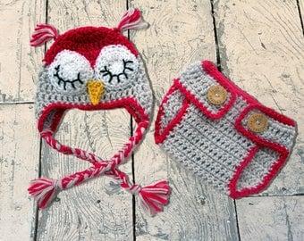 Baby Owl Outfit,  Newborn Owl Hat, Crochet Owl Hat, Owl Outfit, Owl Photo Prop, Baby Owl Hat, Baby Owl Beanie, Owl Crochet Hat, Owl Hat Set