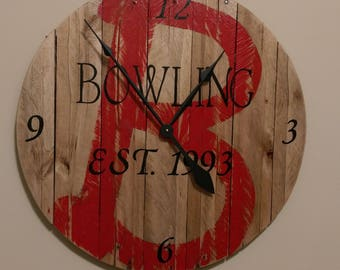 Personalized Reclaimed Wooden Clock