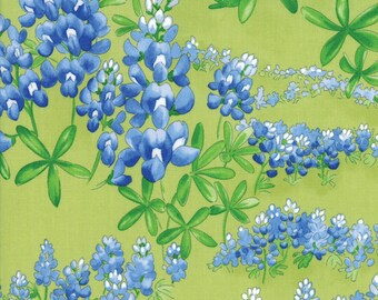 Moda Wildflowers VIII Quilt Fabric 1/2 Yard Grass 33223 13