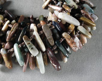 Over 400 Stones! Amazing Navajo 'Stones Of The Earth' Navajo Necklace