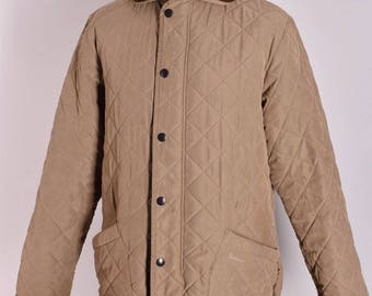Men's Barbour Microfibre Polarquilt Long Quilt Jacket Size M Genuine