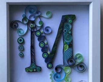 Quilling Letter A Quilled Card Paper Quilling Quilled Monogram
