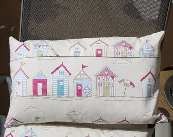 Beach Hut print Cushion