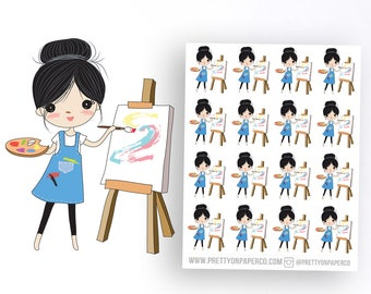 Poppy Paints- Pretty on Paper Co Planner Stickers
