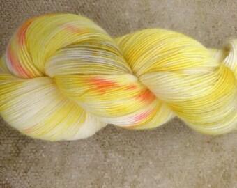 Christmas, hand dyed Falkland Merino fingering yarn