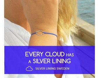 Friendship Bracelet Silver, Dainty Silver Bracelet, Minimalistic Bracelet, Every Cloud Has a Silver Lining Bracelet, Sterling Silver Present
