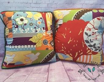 Bird Cushion Cover Set, Throw Pillow Cover, Handmade Cushion Cover, Bedroom Cushion, Cover for Cushion, Decorative Pillow, Bed Pillow